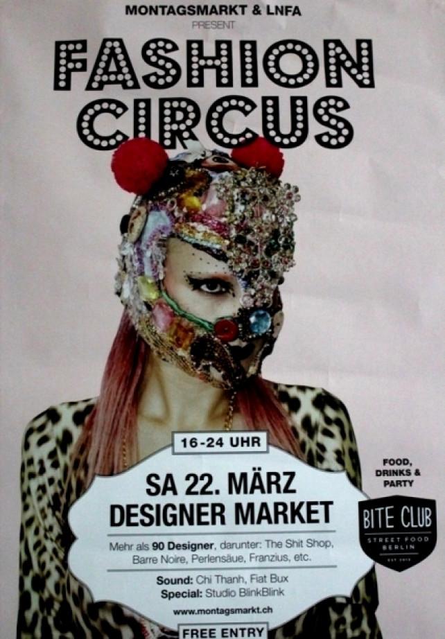 Muotitapahtuma Montagsmarkt – Fashion Designer Circus